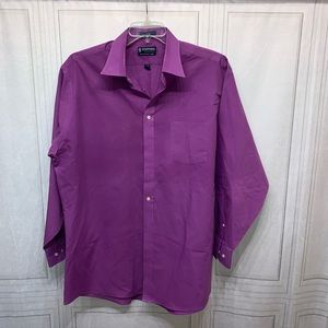 Stafford Button Down Shirt Fitted 17.5 34/35